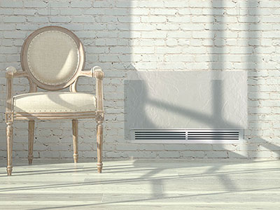Hydronic inertia radiators - Hybrid dynamic radiators Silicium Hybrid Inverter White Slate