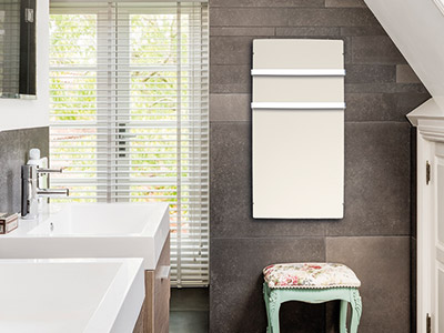Bathroom Inertia radiators Silicium Wifi Bathroom White Cashmere