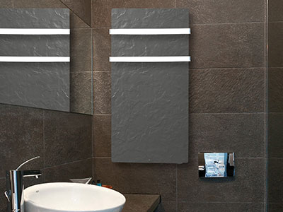 Bathroom Inertia radiators Silicium Touch Bathroom Black Slate