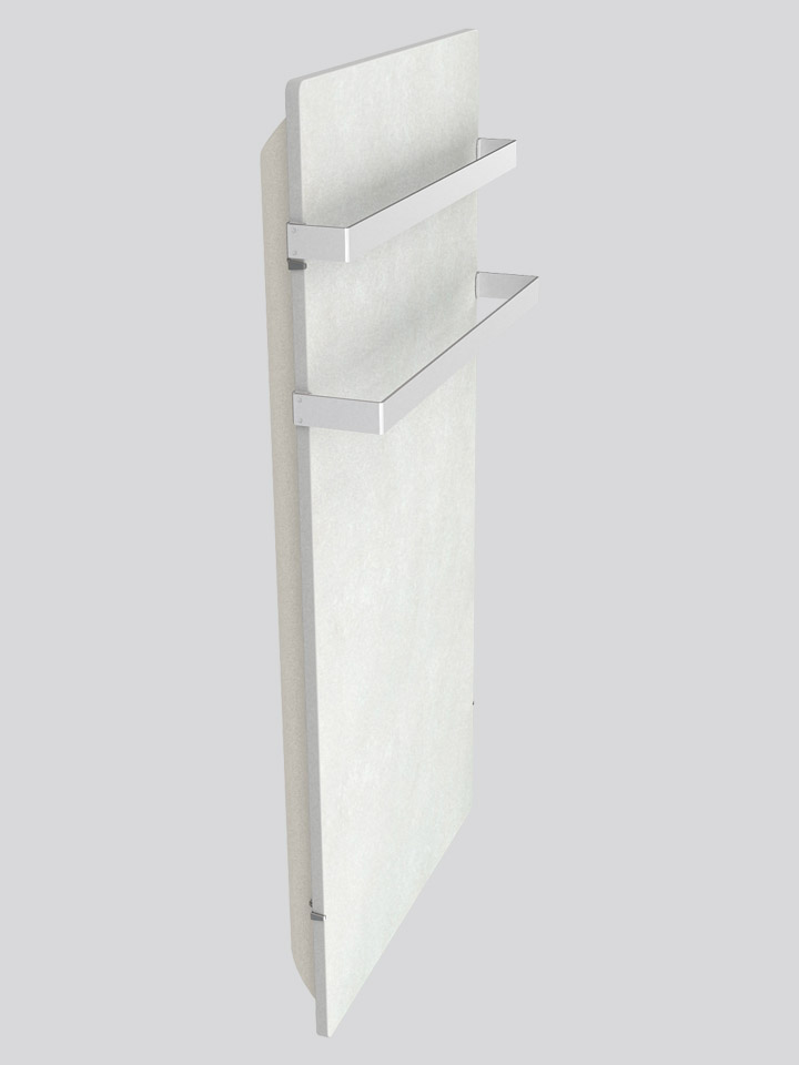 Silicium Smart Pro Bathroom Vertical 800 W White Cashmere