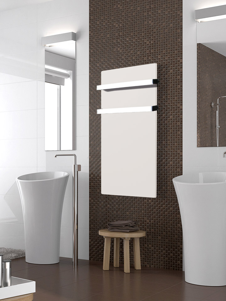 Silicium Smart Pro Bathroom Vertical 1000 W White Cashmere