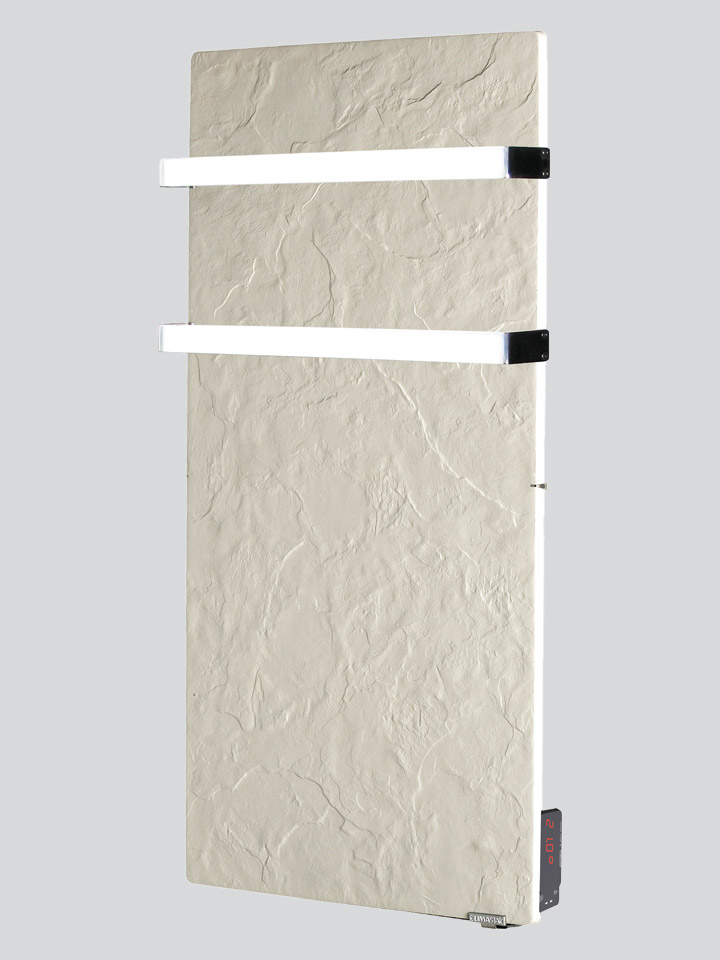Silicium Touch Bathroom Vertical 1300 W White Slate